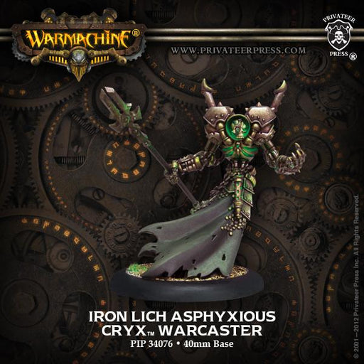 Warmachine Cryx Iron Lich Asphyxious Warcaster