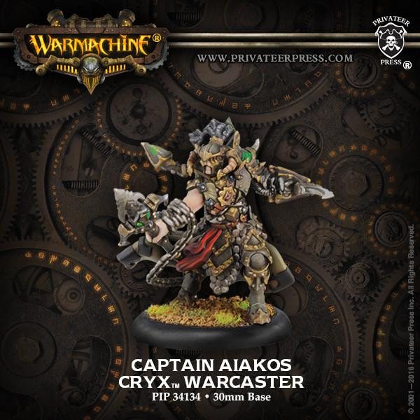 Warmachine Cryx Captain Aiakos