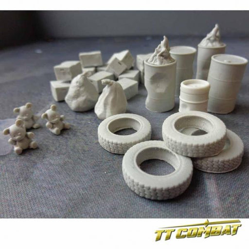 28mm Terrain: City Accessories - Back Alley Accessories 2 (resin)