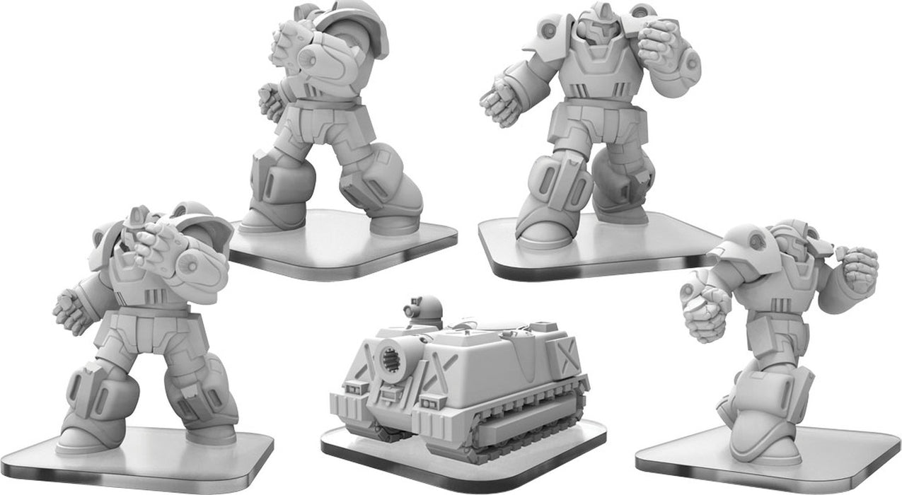 Monsterpocalypse: G.U.A.R.D. Exo-Armors & MR-Tank Units (Resin and White Metal)