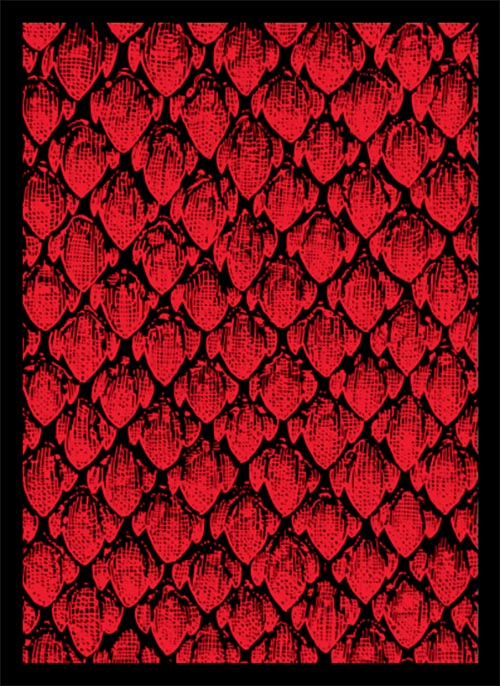 Legion Matte Sleeves: Dragon Hide 50 Ct - Red
