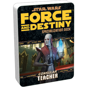 Star Wars Force and Destiny Consular Teacher Specialization Deck