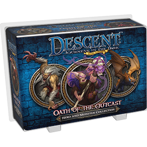 Descent Journeys in the Dark Second Edition Oath of the Outcast Hero and Monster Collection