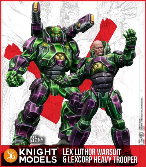 Batman Miniature Game: Lex Luthor Warsuit and Lexcorp Heavy Trooper (Multiverse) (Resin)