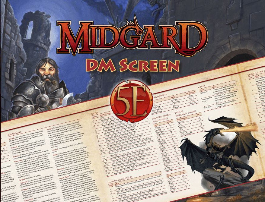 Dungeons and Dragons RPG: Midgard DM Screen