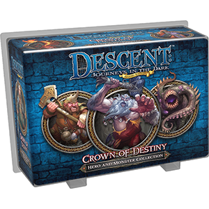 Descent Journeys in the Dark Second Edition Crown of Destiny Hero and Monster Collection