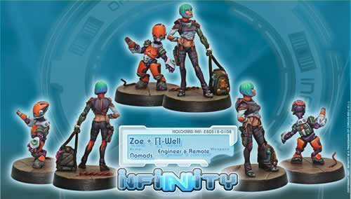 Infinity: Nomads Zoe & Pi-Well, Special Clockmakers Team (Engineer & Remote)