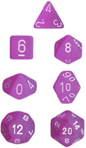 Frosted: Poly Purple/White Set (7)