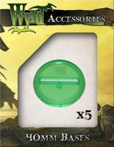 Malifaux Green Translucent 40mm Bases