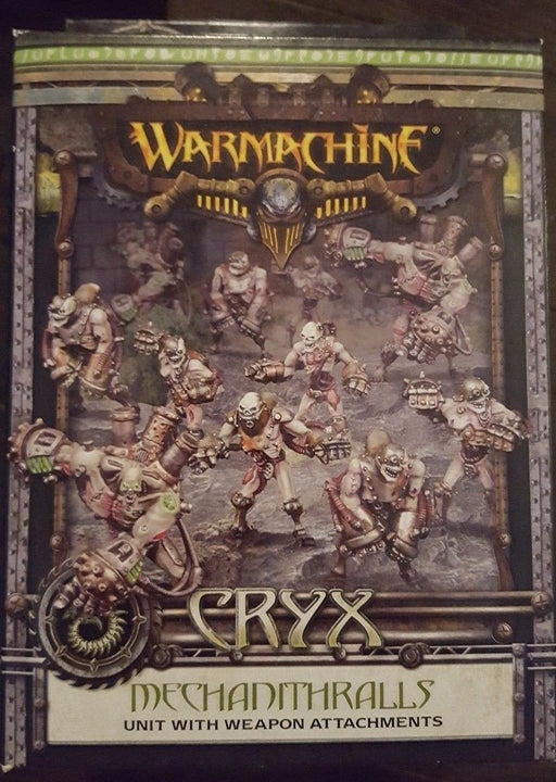 Warmachine Cryx Mechanithralls Unit With Weapon Attachment