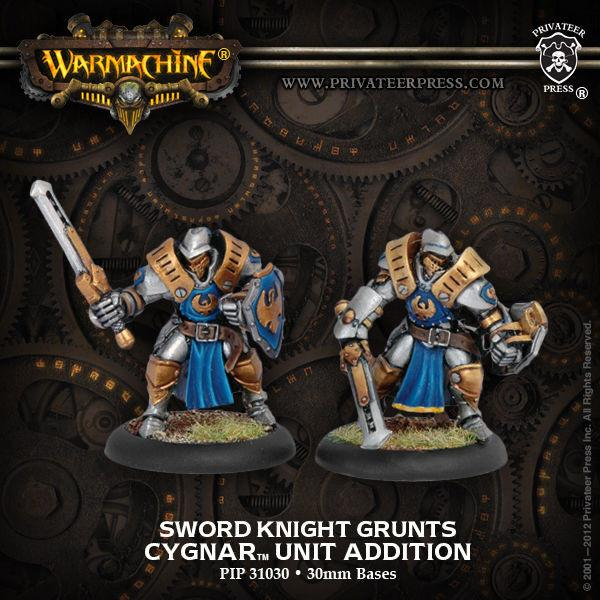 Warmachine Cygnar Sword Knights (2)