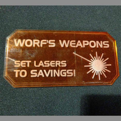 28mm Terrain: Sci-fi Scenics - Sign H (Worf's Weapons)