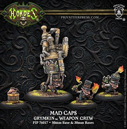 Hordes Grymkin Mad Caps Weapon Crew Unit