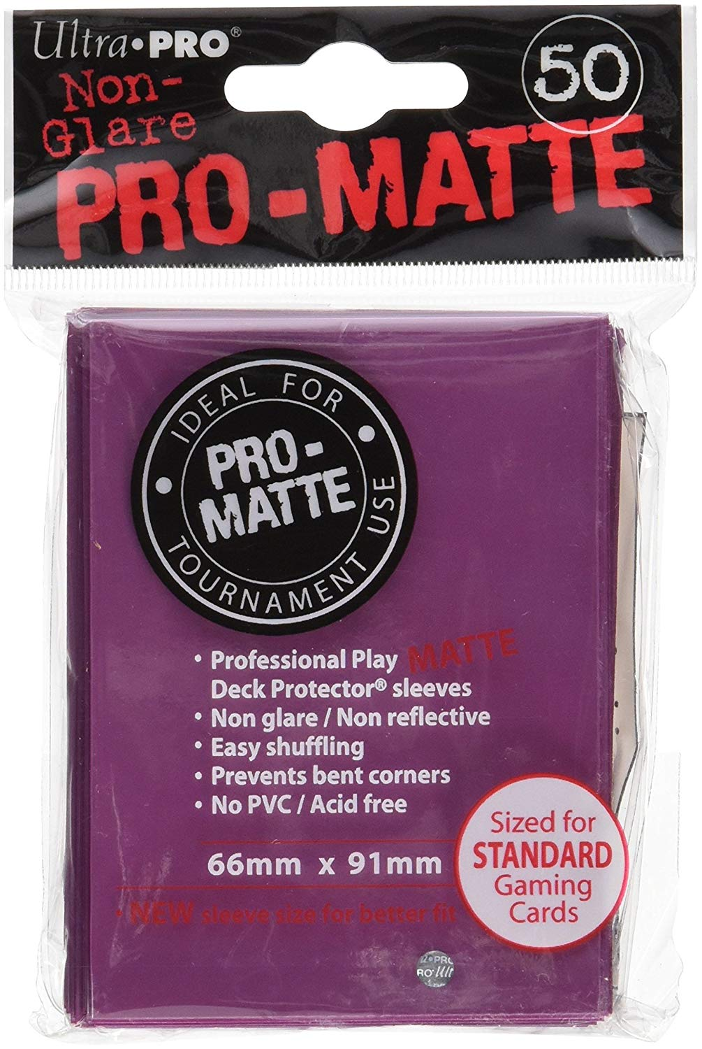 Ultra Pro Matte Deck Protector Sleeeves 50 Count Blackberry