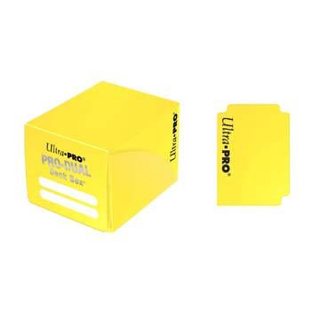 UltraPro Pro-Dual Deck Box (Holds 120 Cards) Yellow