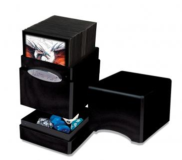 Ultra Pro Hi-Gloss Midnight Satin Tower Deck Box