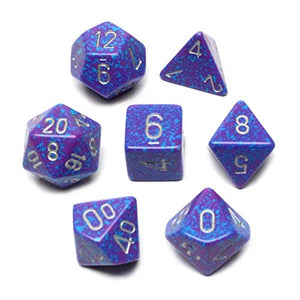 Chessex Polyhedral 7-Die Set Speckled Silver Tetra 25347