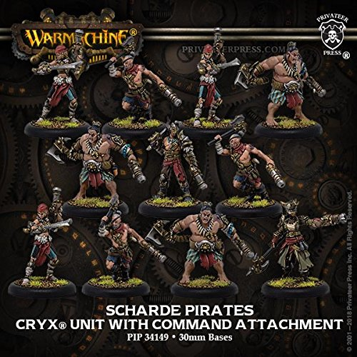 Warmachine: Cryx Sharde Pirates Unit (11) (Resin and White Metal)