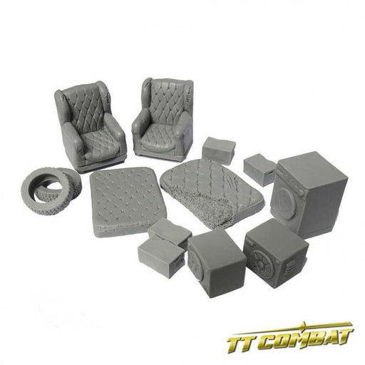 28mm Terrain: City Accessories - Backalley Accessories 3 (resin)