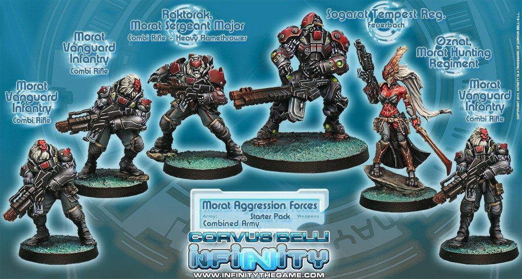 Corvus Belli Infinity Combined Army Morat Aggression Force
