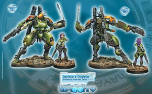 Corvus Belli Infinity Scarface & Cordelia Mercenary Armored Team