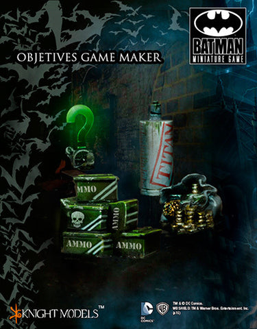 Batman Miniatures Game Markers Objectives
