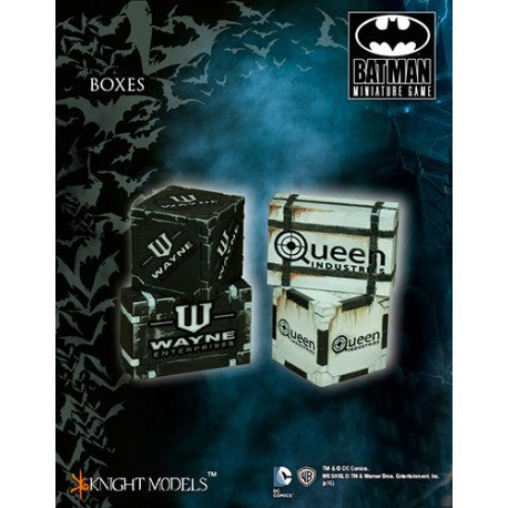 Batman Miniatures Game Scenery Boxes