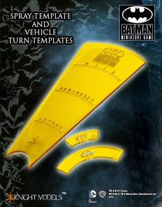 Batman Miniatures Game Templates Spray