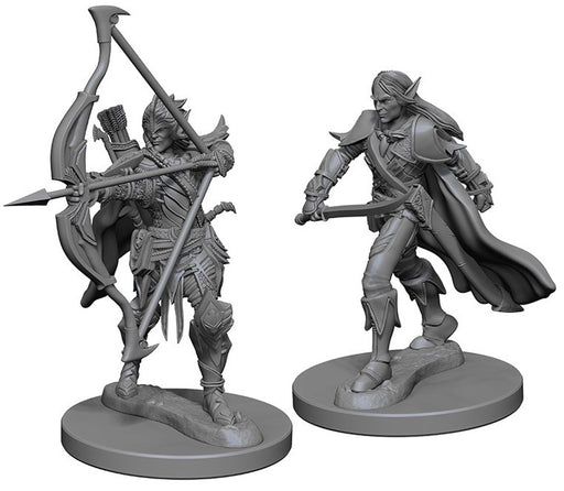 Deep Cuts Pathfinder Unpainted Miniatures Elf Male Fighter