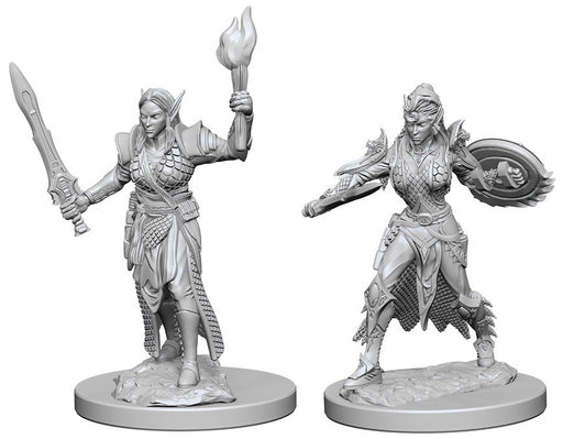 Deep Cuts Pathfinder Unpainted Miniatures Elf Female Fighter