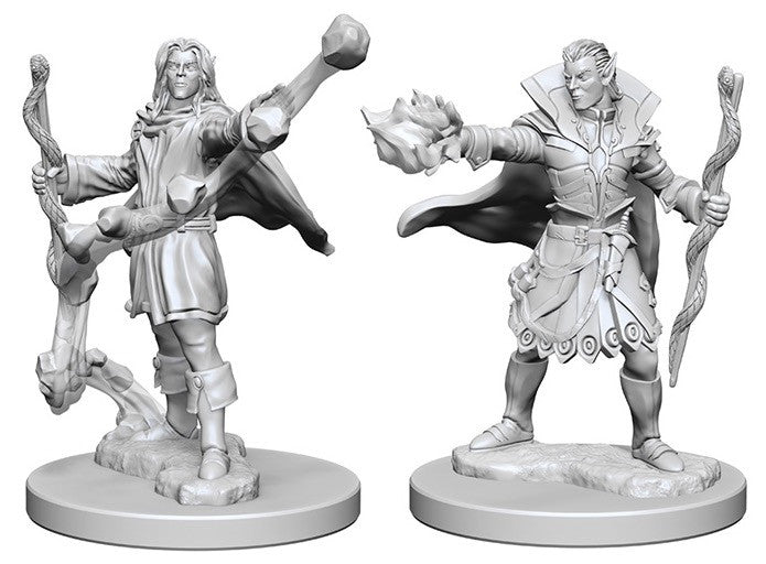 Deep Cuts Pathfinder Unpainted Miniatures Elf Male Sorcerer