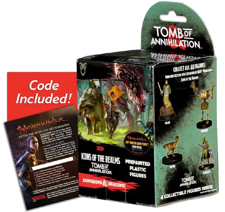 Dungeons & Dragons Icons of the Realms Set 7 Tomb of Annihilation Prepainted Miniatures Booster