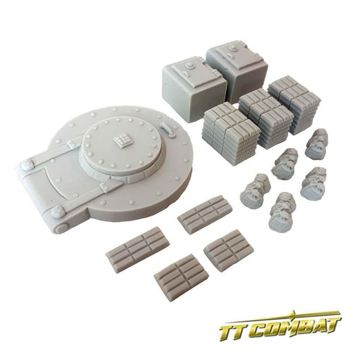 28mm Terrain: City Accessories - Bank Accessories (resin)