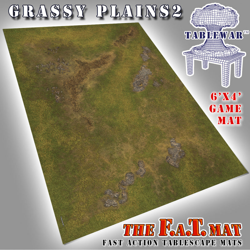 Tablewar 6x4 'Grassy Plains 2' F.A.T. Mat Gaming Mat