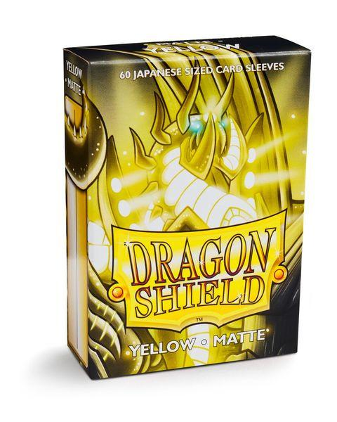 Dragon Shield Matte 60ct Japanese Card Sleeves Yellow