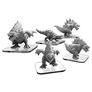 Monsterpocalypse: Terrasaur Carnidon and Spikodon Units (Resin and White Metal)