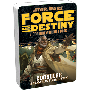 Star Wars Force and Destiny Consular Signature Abilities Deck