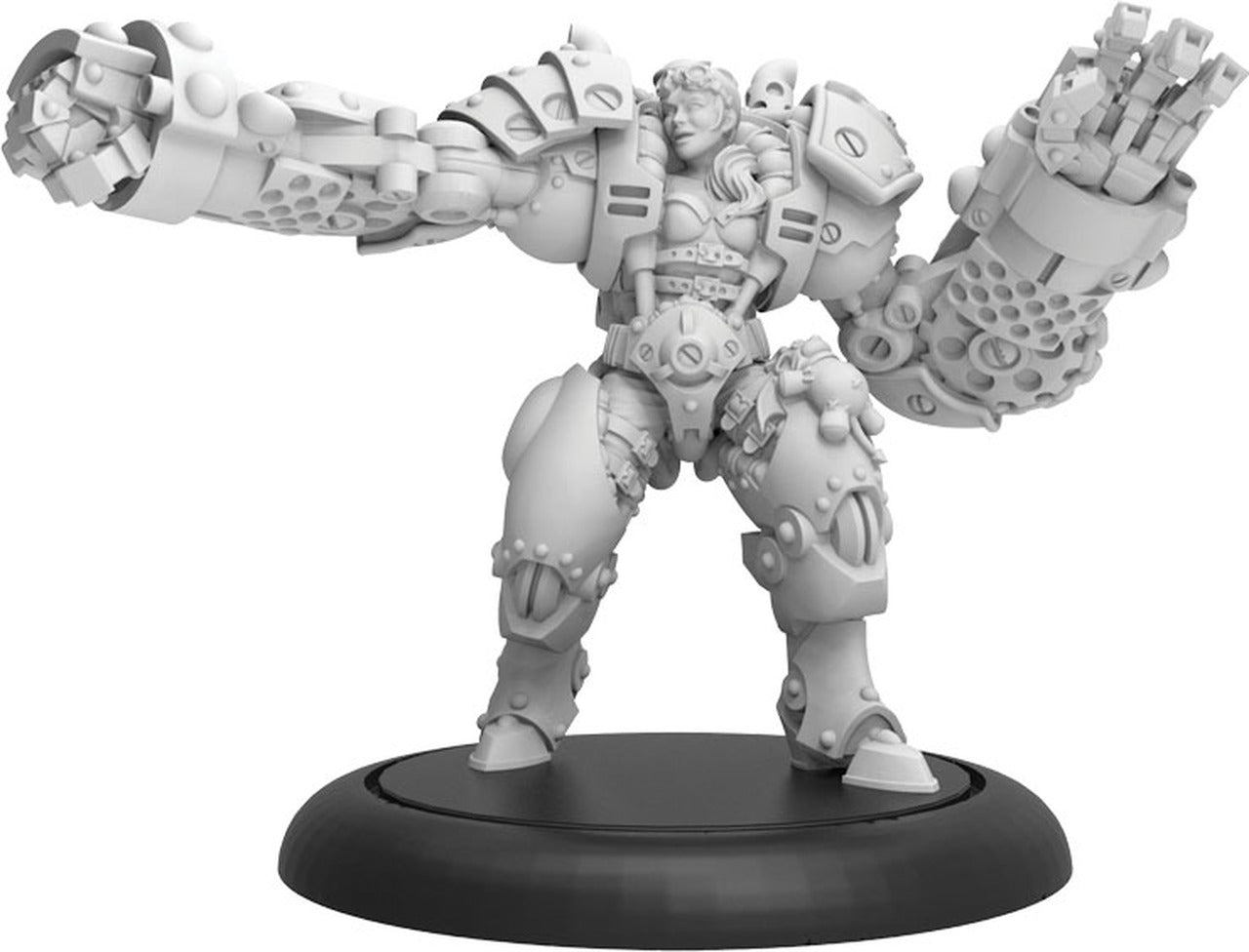 Riot Quest: Boss MacHorn Guard (Resin and White Metal)