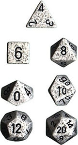 Chessex Polyhedral 7-Die Set Speckled Arctic Camo 25311