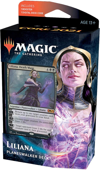 Magic the Gathering CCG: Core 2021 Planeswalker Deck Liliana