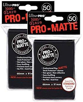 Ultra Pro Matte Deck Protector Sleeves 50 Count Black