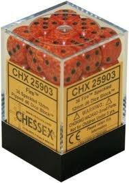 Chessex 36 12mm D6 Dice Block Speckled Fire 25903