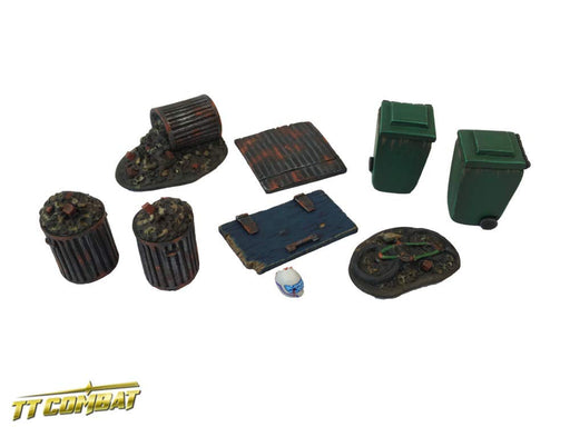 28mm Terrain: City Accessories - Backalley Accessories 4 (resin)