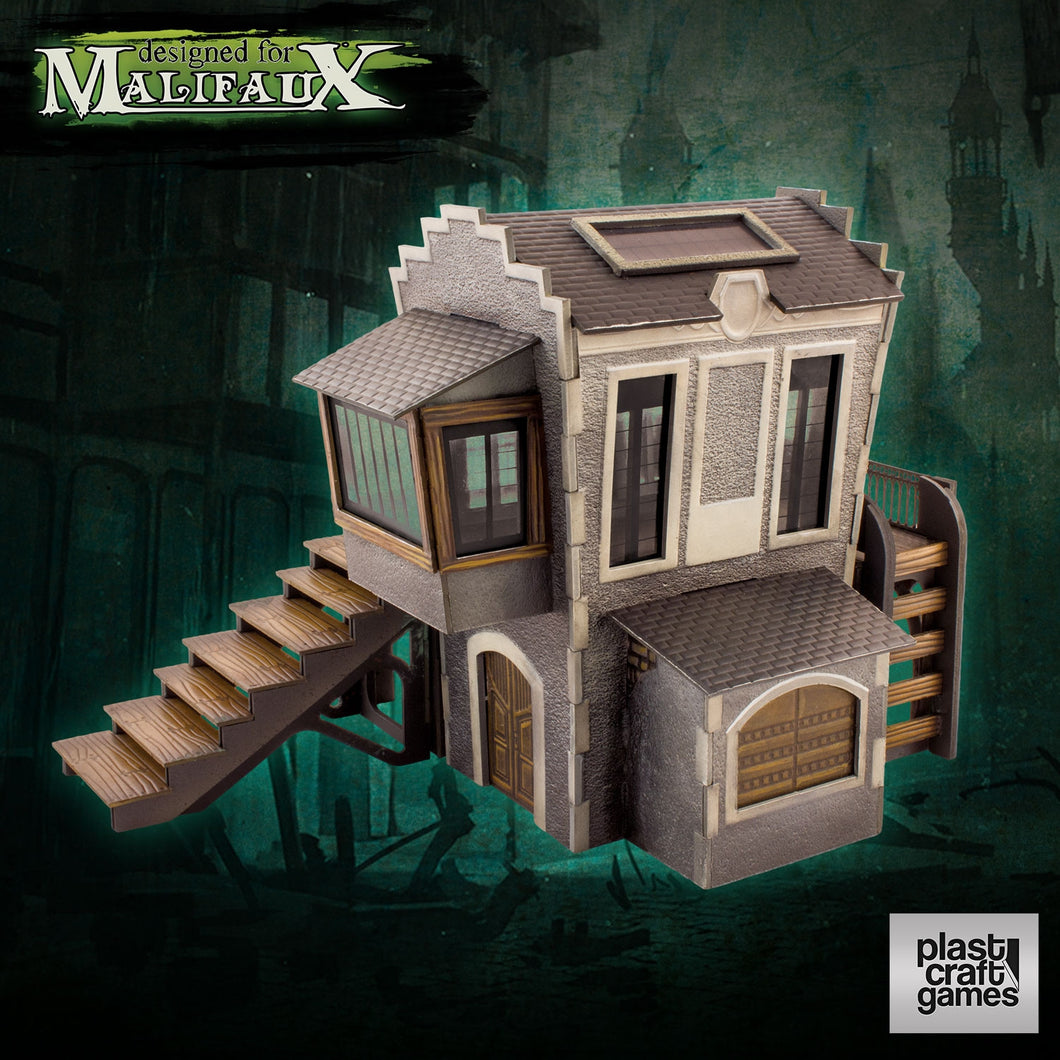 Malifaux Plast Pre-Cut Downtown Building Scenery