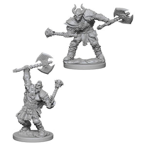 Dungeons and Dragons Nolzur's Marvelous Miniatures Half Orc Male Barbarian