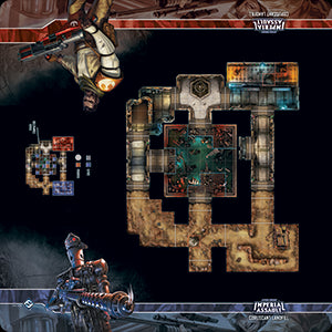 Star Wars Imperial Assault Skirmish Map Coruscant Landfill Playmat