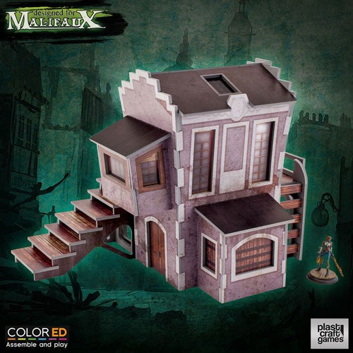 Malifaux Plast Craft Games Downtown Building (Colored)
