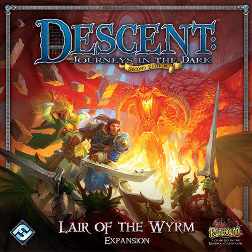 Descent Journeys In The Dark Second Edition Lair Of The Wyrm Expansion Game