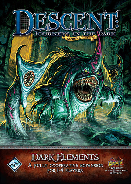 Descent Journeys In The Dark Second Edition Dark Elements A Fully Cooperative Expansion