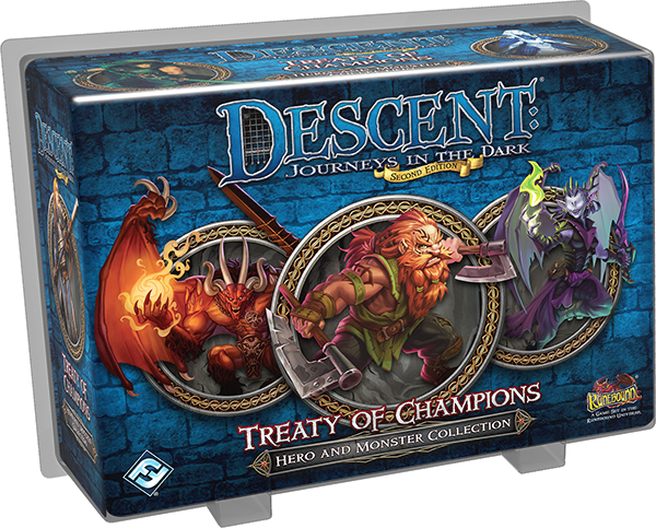 Descent Journeys In The Dark Second Edition Treaty Of Champions Hero And Monster Collection